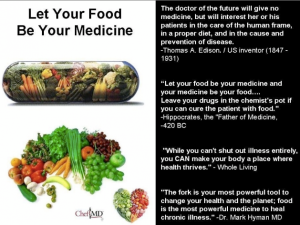 Let food be your medicine Photo